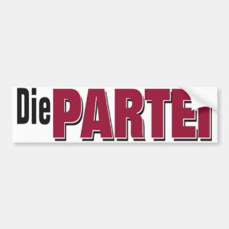 Die Partei Logo Autoaufkleber