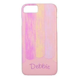 Die Pastellvertikale, die beunruhigt wird, Stripes iPhone 8/7 Hülle