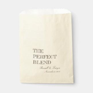 Die perfekten Mischungs-Kaffee-Bevorzugungen, Geschenktütchen