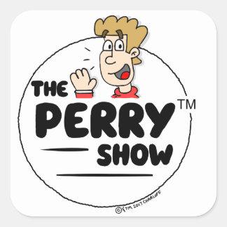 Die Perry-Show-Aufkleber Quadratischer Aufkleber