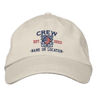 Die personalisierte amerikanische See Flaggen-Crew Bestickte Baseballkappe