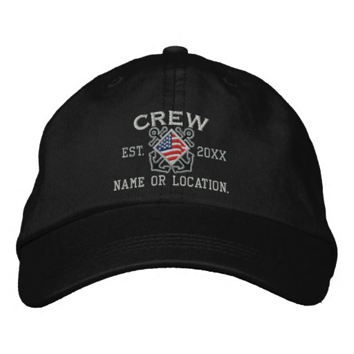 Die personalisierte amerikanische See Flaggen-Crew Besticktes Baseballcap