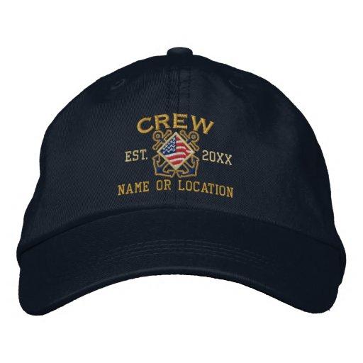 Die personalisierte amerikanische See Flaggen-Crew Bestickte Caps