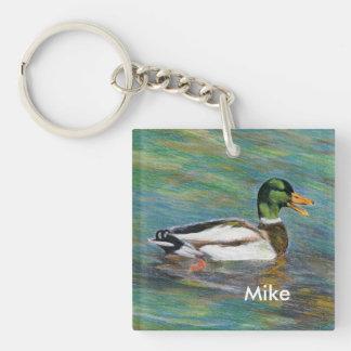 Die personalisierte Stockente Keychain des zur Schlüsselanhänger
