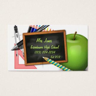 Die personalisierte Tafel des Lehrers Visitenkarte