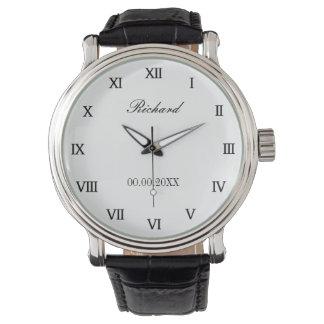 Die personalisierte Uhr der Männer für Geburtstag