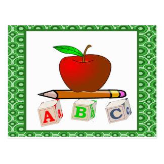 Die personalisierten ABC des Lehrers Postkarte