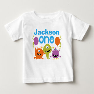 Die personalisierten Monster-1. Geburtstags-T - Baby T-shirt