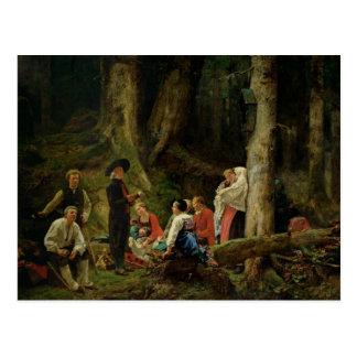 Die Pilger von der Abtei von St. Odile Postkarte