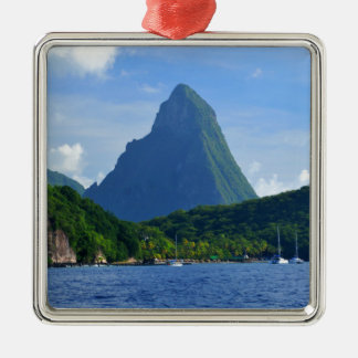 Die Pitons in Heiliger Lucia Silbernes Ornament