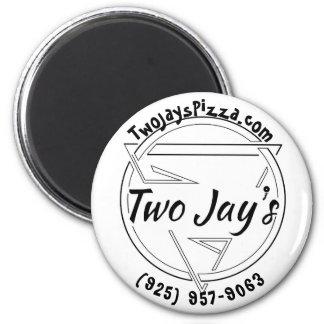 Die Pizza-Button zwei Jay Runder Magnet 5,1 Cm