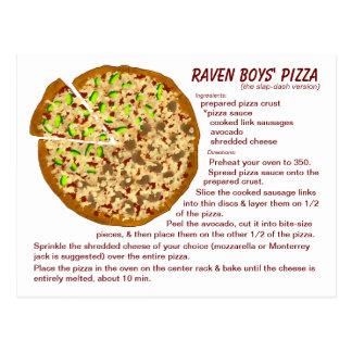 Die Pizza-Rezept-Postkarte der Raben-Jungen Postkarte