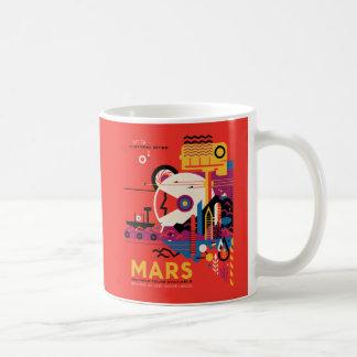 Die Planeten-Mars-Raum-Erforschungs-Illustration Kaffeetasse