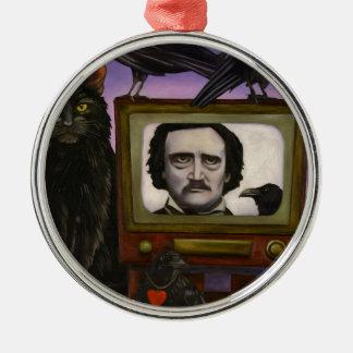 Die poe-Show Silbernes Ornament