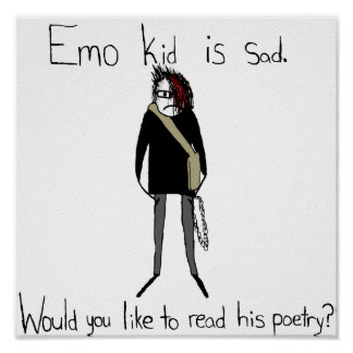 Die Poesie-Plakat Emo Kindes