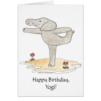 Die Pose Elefant-des übenden Yoga-Tänzers Grußkarte