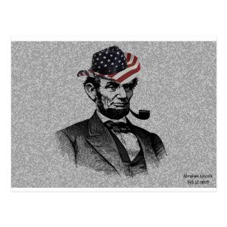 Die Postkarte Präsidenten-Lincoln