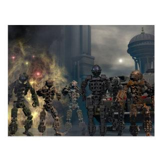 die prachtvollen sieben Roboter b Postkarten