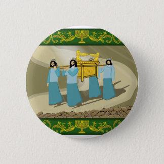 Die Priester und die heilige Arche des Vertrages Runder Button 5,7 Cm