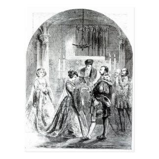 Die private Heirat von Anne Boleyn Postkarte