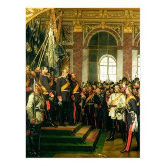 Die Proklamation von Wilhelm als Kaiser Postkarte