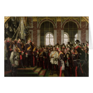 Die Proklamation von Wilhelm Karte