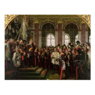 Die Proklamation von Wilhelm Postkarte