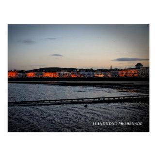 Die Promenade bei Llandudno Postkarte