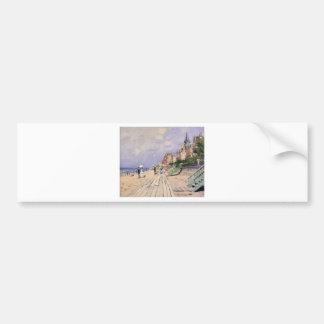 Die Promenade bei Trouville Claude Monet Autoaufkleber