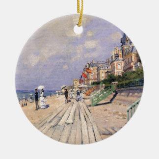 Die Promenade bei Trouville Claude Monet Rundes Keramik Ornament