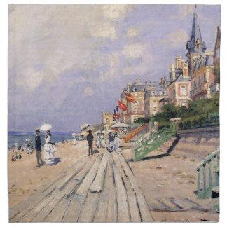 Die Promenade bei Trouville Claude Monet Stoffserviette
