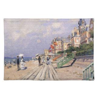 Die Promenade bei Trouville Claude Monet Stofftischset