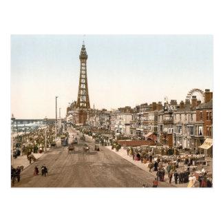 Die Promenade, Blackpool, England Postkarte