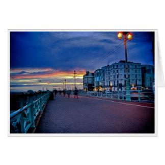 Die Promenade Grußkarte