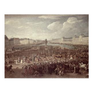 Die Prozession von Louis XIV (1638-1715) über Postkarte