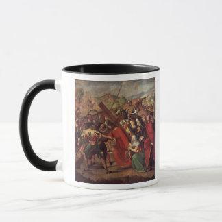 Die Prozession zum Kalvarienberg, c.1505 Tasse