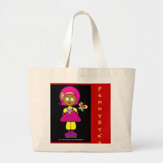 Die Puppen-Tasche des Penny-Auges Jumbo Stoffbeutel