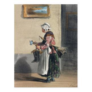 Die Putzfrau, von 'Les Femmes De Paris Postkarte