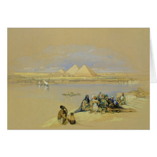 Die Pyramiden in Giseh, nahe Kairo (w/c) Karte