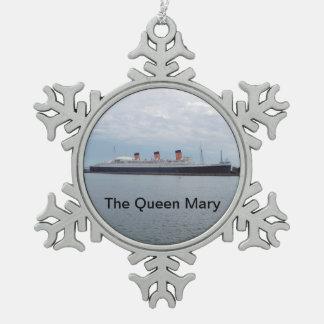 Die Queen Mary-Kreuzschiff-Verzierung Schneeflocken Zinn-Ornament