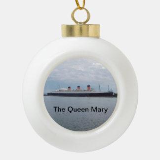 Die Queen Mary-Weihnachtsverzierung Keramik Kugel-Ornament
