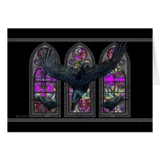 Die Raben Samhain Segen-Gruß-Karte Grußkarte