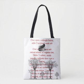 Die Raben-Vintage Gedicht-Taschen-Tasche Tasche