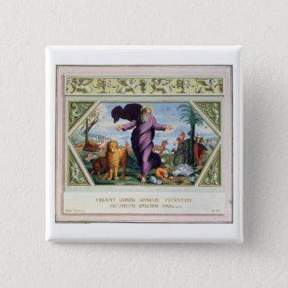 Die RAPHAEL-Bibel: Dreiunddreißig Szenen vom Ol Quadratischer Button 5,1 Cm