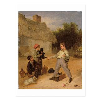 Die Ratten-Falle (Öl auf Platte) Postkarte