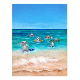 Die Ratten-Rennen-Strand-Postkarte Postkarte