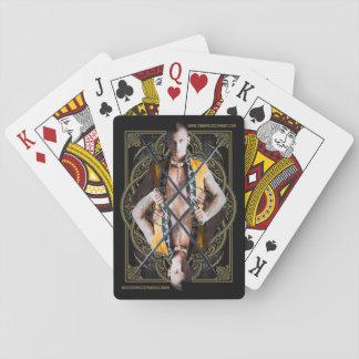 Die Raum-Cowboy-klassischen Spielkarten