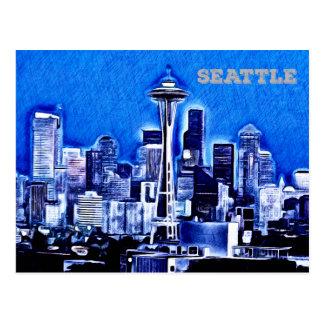 Die Raum-Nadel - Seattle, Washington Postkarte