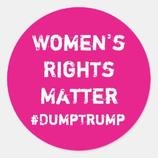 Die Recht-Angelegenheit der Frauen Runder Aufkleber