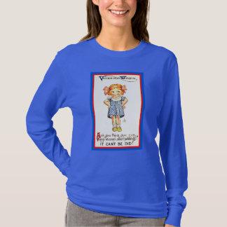 Die Recht-T - Shirtniedlicher Vintager Suffragette T-Shirt